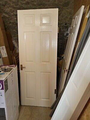 £35 • Buy 6 Panel White Interior Doors X 5 With Wood Moulding