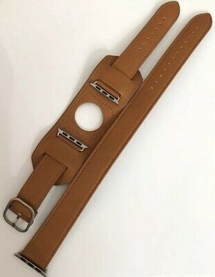 AU40.81 • Buy Casetify Double Tour Apple Watch Band Tan Leather W/ Silver Tone Hardware 38mm