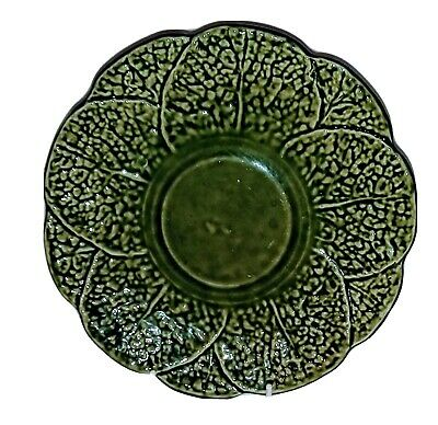 £19.99 • Buy  Large Majolica Serving Plate Cabbage Leaf Width 23 Cms