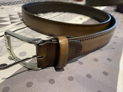 £14.99 • Buy Canali Brown Leather Belt 120/135