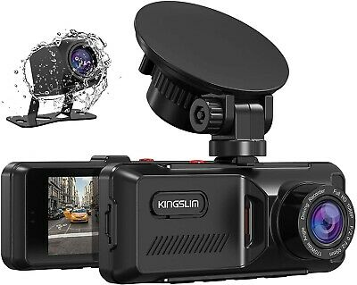 AU78.46 • Buy Dual Dash Cam With Built-in GPS, 1080P Front And Rear Dash Camera For Cars