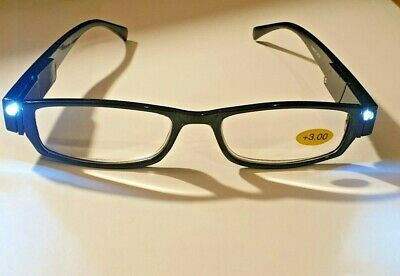 £5.99 • Buy LED Reading Glasses With Lights - 3 Colours - All Strengths + Spare Batteries