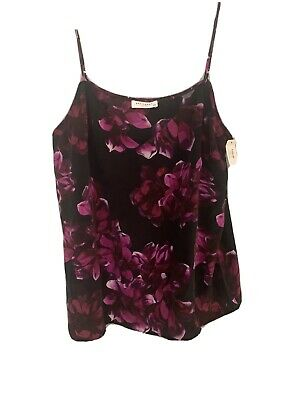 $ CDN42.46 • Buy Equipment Femme  Silk Pajama Floral Black And Red Top/  Size Large