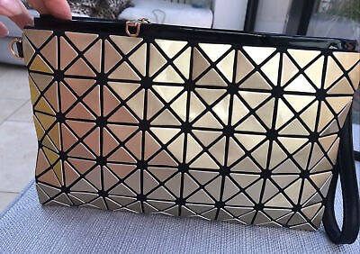 £10 • Buy Herbosa Diamond Pattern Dull Gold Clutch Bag With Cross Body Strap