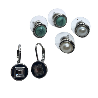 $ CDN10.95 • Buy Lot Of 3 Pairs Small Stud Earrings Signed FA And LS