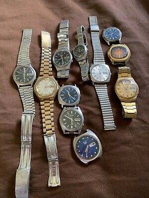 $ CDN75.02 • Buy Vintage Watchmaker Estate Sekio Lot Of Watches Parts Or Repair!! NR