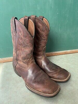 $ CDN12.12 • Buy Justin Boots Mud Square Toe Farm Work Cowboy Boots Men's 11 D