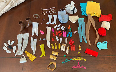 $ CDN22.32 • Buy 1960s Vintage Lot Of Old Barbie Accessories Necklaces Boots Shoes Gloves Nylons