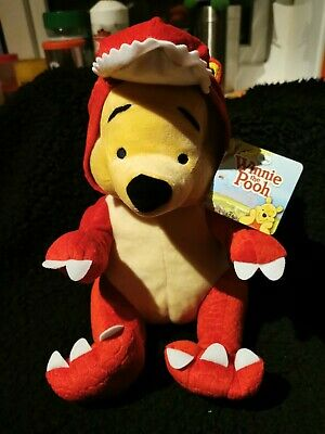 £9.99 • Buy Disney Winnie The Pooh Dressed Up As DINO Soft Toy Plush Red With Tag