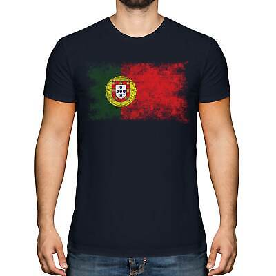 £9.95 • Buy Portugal Distressed Flag Mens T-shirt Top Portuguese Shirt Football Jersey Gift