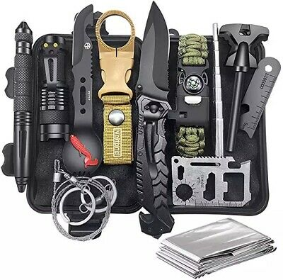 $19.99 • Buy 14 In 1 Outdoor Emergency Survival Gear Kit Camping Tactical Tools  SOS EDC Case