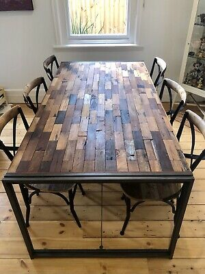 AU500 • Buy Recycled Timber Dining Table 6 To 8 Seater Feature Piece
