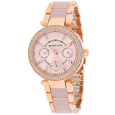 $ CDN121.16 • Buy Michael Kors Ladies Parker Chronograph Two-Tone Rose Gold Watch MK5896