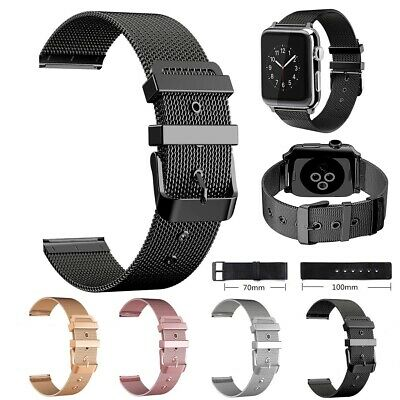 $ CDN9.36 • Buy For Apple Watch Series 3/2/1 38/42mm Stainless Steel IWatch Wrist Band Strap