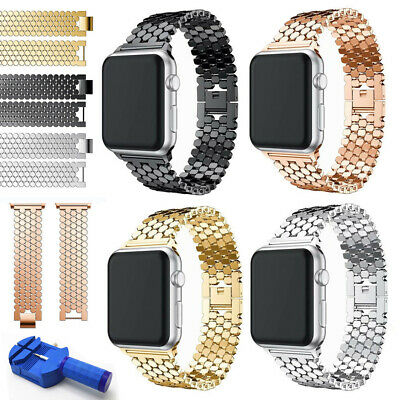 $ CDN16.01 • Buy Metal Stainless Steel Unique Strap Band For Apple Watch Series 3 2 1 42mm/38mm