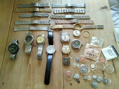 $ CDN17.88 • Buy Job Lot Vintage Gents Watches Inc  Bracelets And Crystals.