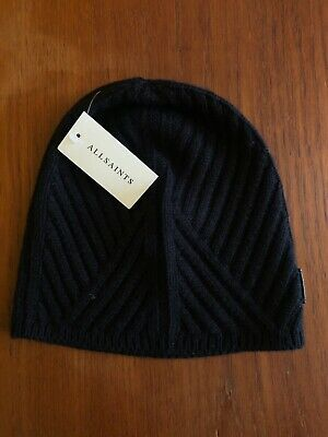 £14 • Buy All Saints Cable-knit, Black Wool Beanie