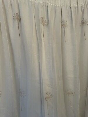 £18 • Buy Voile Embroidered Lined Curtains