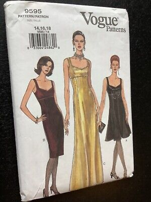 £3 • Buy Vogue Dress Sewing Pattern 9595 - Ladies Special Occasion Dresses 14-18