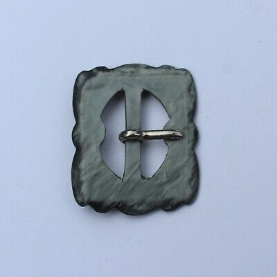 £8 • Buy Art Deco Bakelite Buckle Grey Marbled 34mm X 40mm 1920/30s Clothes Accessories