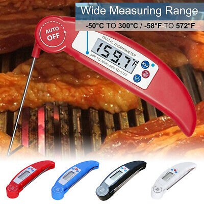 £4.25 • Buy Food Probe Digital Temperature Thermometer Kitchen Foldable Cooking BBQ Meat Jam
