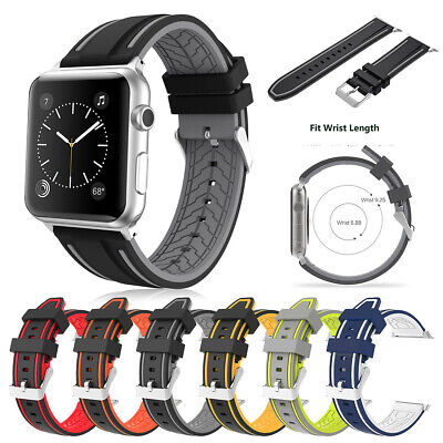 $ CDN11.44 • Buy Replacement Silicone Watch Strap Band For Apple IWatch Series 3/2/1 38mm 42mm