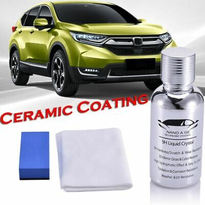 AU43.32 • Buy Car Nano Ceramic Coating  High Gloss 9H Polisher Hydrophobic Paint Auto Care Kit