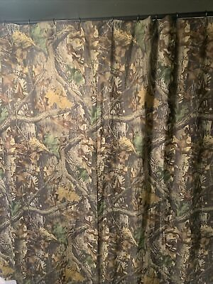 £7.09 • Buy Advantage Timber Shower Curtain Grad Gift College Camo Camoflauge Fabric Hunting