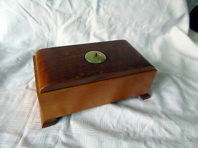 £0.99 • Buy Vintage Wooden Music Box With Small Roulette Wheel On Top!