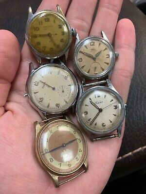 $ CDN6.65 • Buy Vintage Wyler, Elgin, Nastrix, Chalet Mens Watch Lot Parts Or Repair!! NR