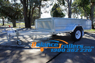 AU2400 • Buy 8x5 GALVANISED HEAVY DUTY BOX TRAILER WITH 500mm HIGH SIDE AND BRAKE ATM1400KG