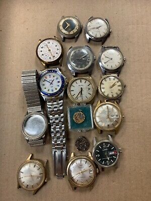 $ CDN18.15 • Buy Vintage Estate Lot Of Waltham, Bulova, Buren, Omega, GP Watches Parts Or Repair!