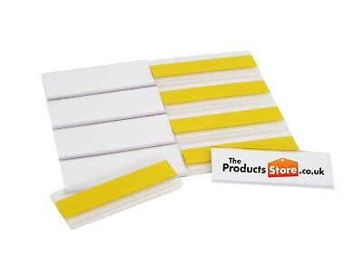 £27.72 • Buy Self-Adhesive Ticket Label Holders 25mm High X 70mm Long EPOS Strips Pack Of 100