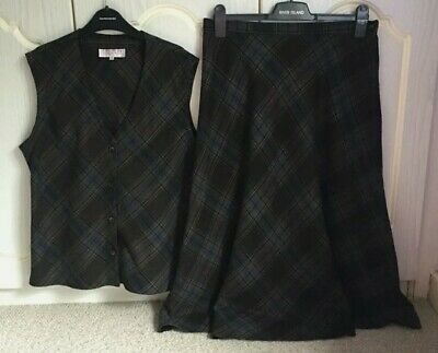£3 • Buy Country Collection Skirt And Waistcoat Set Size 16 Tartan Check Plaid