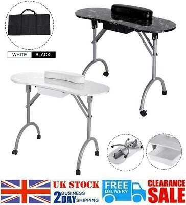 £65.99 • Buy Portable Folding Manicure Table Desk Salon Nail Art With Silver Flower Surface