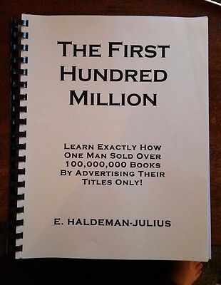 £18.11 • Buy THE FIRST HUNDRED MILLION Recommended By Gary Halbert Dan Kennedy Ted Nicholas