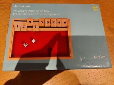 £6 • Buy John Lewis Shut The Box Traditional Wooden Game Boxed Complete & Instructions