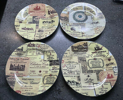 £4 • Buy 4 Wine Labels Collectors Plates