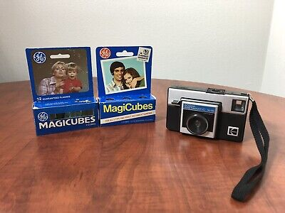 $ CDN24.20 • Buy Vintage Kodak Instamatic X-15 Pocket Camera/Strap& 5 Used MagiCube & 2 Org.Boxes