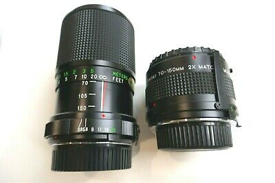 £29 • Buy MINOLTA-MD Fitting VIVITAR 70-150mm (140mm - 300mm) Twin Lens Outfit