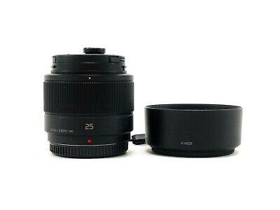 £100.34 • Buy Panasonic Lumix 25mm F/1.7G Lens For Micro 4/3 Mount, With Accessories And In EC