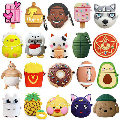 $ CDN7.31 • Buy Suitable For Apple AirPod 1 & 2 Airpods Pro 3D Cute Cartoon Silicone Case Cover
