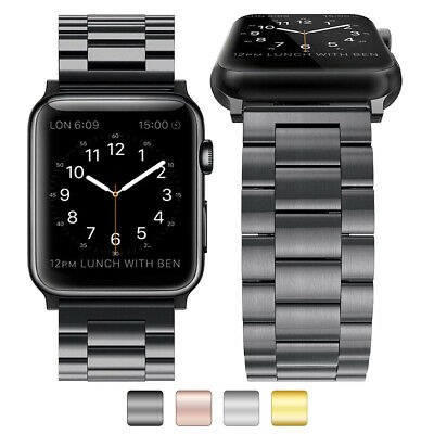 $ CDN4.55 • Buy Stainless Steel Metal Watch Band Bracelet For Apple IWatch Series 3/2/1 38/42mm
