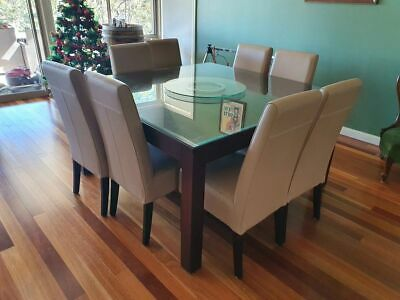 AU800 • Buy QUALITY Solid Mango Wood Large Square Dining 8 Seater Table