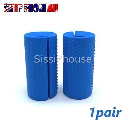 AU17.99 • Buy 1Pair Thick Fat Barbell Silicone Grips Gym Arm Dumbbell Wrap Grip Weightlift NEW