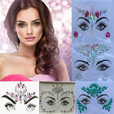 £2.19 • Buy Face Gems Adhesive Glitter Jewel Tattoo Sticker Festival Rave Party Body Make Up