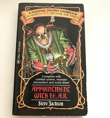 AU33.60 • Buy Appointment With F.E.A.R. Fighting Fantasy Gamebook By Jackson Steve Paperback