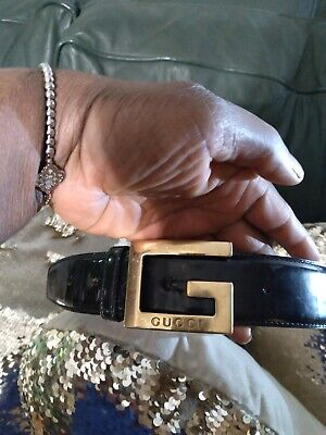 AU199.60 • Buy Gucci Authentic Vintage GG Belt Size 80cm 25-28 Waist