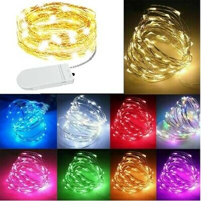 £1.99 • Buy 20/30/50 LED Battery Micro Rice Wire Copper Fairy String Lights Party Warm White