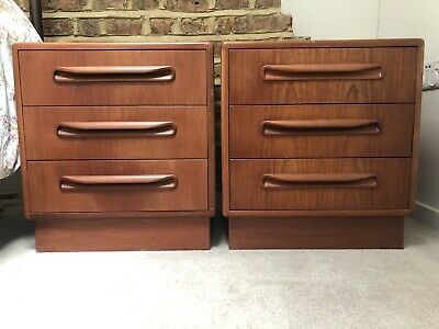 £300 • Buy Original Mid Century G Plan Pair Of Bedside Chest Of Drawers - Vintage / Retro